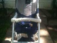 I have a combi trifold stroller, light weight folds up