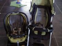Combie Travel System in Wasabi color (green). This