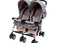 Pink and Grey Combi double stroller. Awesome condition,