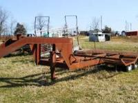 gooseneck hitch combine trailer, ready to go. call  or