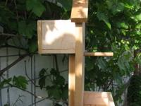 Bird Feeder/Perch/House Combo on Post: Model#1317. This