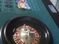 Combination game table: Pool, Roulette, Craps, and