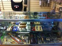We have a huge selection of knives here at the Trading