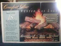 "Comfort Glow 18"" Vented Gas Log set for natural gas."
