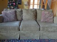 Mocha colored couch living in a pet/smoke free home,