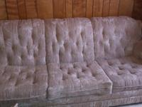 NICE SOFA, $400, HOPE CHEST($100) BOTH IN TERRIFIC
