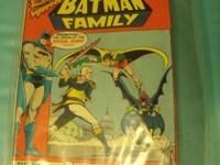 For sale are eight comic books featuring Batman from