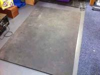 I have a commercial grade equipment mat. Mat measures