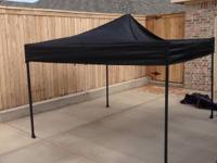 This is a 8x8 industrial grade steel black canopy with
