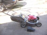 Excellent Honda HRC216 Commercial Mower. Tires have