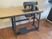 The sewing machine and table overall dimensions are 4