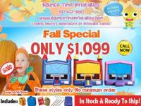 Bounce Time Inflatables has super hot fall savings on