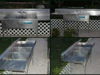 We have a stainless steel sink, excellent condition,