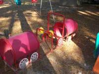 Various Playground Equipment, 1 Metal Swing Sets (3