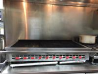 Commercial/restaurant Propane Gas Grill, 6 years old,
