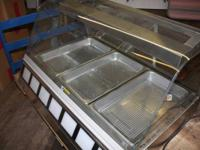ROUNDUP Commercial Heated Food Display case. Used, in