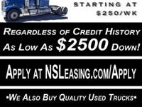 We lease all types of Semi-Trucks from Volvo, Kenworth,