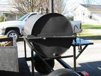 Commercial Grade Custom Made Grill/Smoker Mounted on a