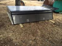 Fiberglass truck topper/cap with steel shelving and