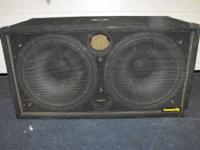"Community CSX40-S2 Dual 15"" Passive Subwoofer. Sub is"