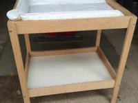 Space-saving changing table from IKEA. Extremely basic