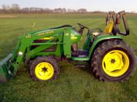 1999 JD 4300 mfwd with 430 loader, 32 hp,750 hrs,r1