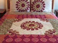 Company Store queen size quilt with matching pillow
