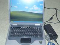 I am selling my Compaq Presario 2100 laptop.  It comes
