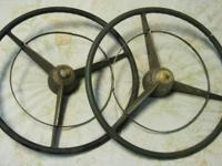 2 1956 Buick Steering Wheels Complete with Horn Rings &