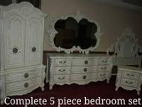 Beautiful restored antique bedroom set, complete with