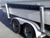 Sandblasting and repaint trailers with unique seawater