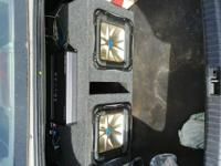 1 rockord p1000 2 channel amp and a.crunch 2000 watt 4