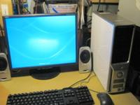 "Complete Dell C521, 2GB RAM, DVD-RW, NEC 20"" LCD,"
