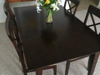 The price consists of the table and all 4 chairs. Great