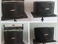 I have for sale a complete DJ system: 2 Bose Speakers
