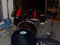 Sound Percussion complete drumset. Bass, snare, two