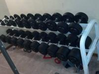 Very nice dumbbell set with rack.  Bench press.