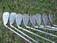 Complete set of right handed clubs that are used but in