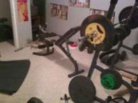 complete home gym for sale.....over 500lbs of olympic