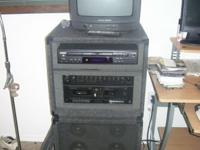 COMPLETE STACKING KARAOKE SET LIKE NEW. RITECH KARAOKE