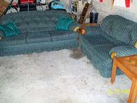 LIVING ROOM FURNITURE, (5 pieces) couch, love seat,
