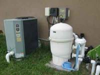 Complete Pool system for sale Water heater, Pool Filter