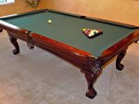 Amazing COMPLETE POOL TABLE PACKAGE   Craftmaster Custom Table And Extras!!!