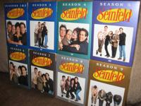 "All 9 periods of ""Seinfeld"" on DVD. Seasons 1 & 2 are"
