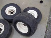 Complete set of used golf cart tires and wheels. Set of