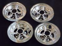 Complete set of 4 golf cart Chrome Wheel Covers NEW IN