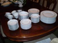 Complete set of Noritake Crestmont china. Service for