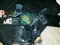 For sale is a 5150 snowboard with matching bindings.