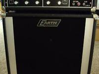 Vintage guitar/bass amp with matching speaker cabinet