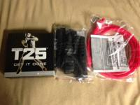 Complete Beachbody T25 workout set with resistance